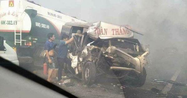 Cao tốc TP.HCM – Long Thành – Dầu Giây gây tai nạn liên hoàn vì... khói