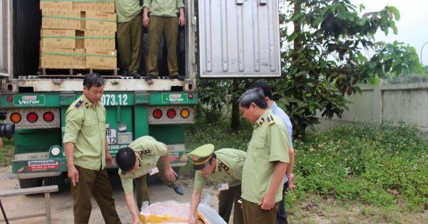 Container chở hơn 6,5 tấn thịt động vật hôi thối vào TP.HCM