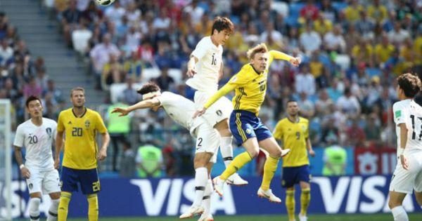 Thụy Điển vượt qua sát nút Hàn Quốc nhờ công nghệ VAR tại vòng bảng World Cup 2018