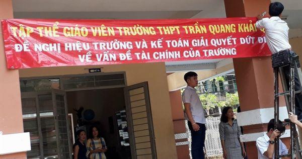 Sở GD&ĐT TPHCM đã ra quyết định thu hồi hơn nửa tỷ đồng đối với trường THPT Trần Quang Khải