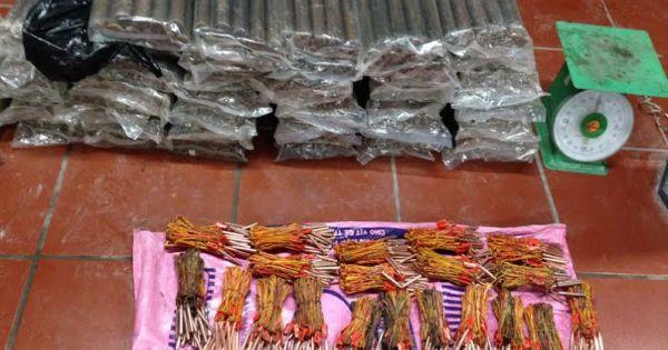 Quảng Ninh: Bắt vụ vận chuyển gần một tạ thuốc nổ