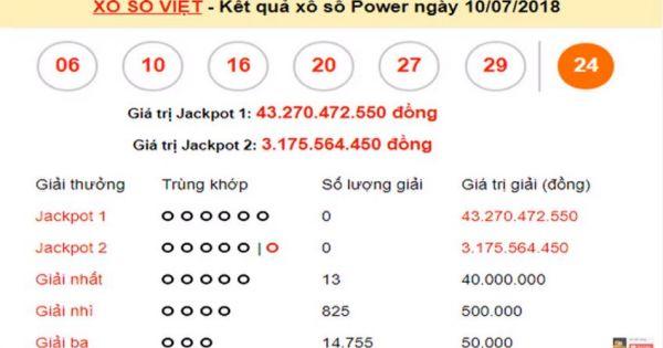 Mega 6 45 vietlott 10/7/2018– KQXS MEGA 645