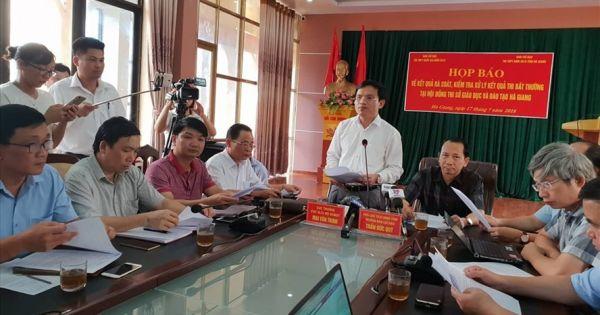 Điểm báo 18/07/2018: Sai phạm chấm thi THPT Quốc gia ở Hà Giang: 114 thí sinh được nâng điểm bài trắc nghiệm