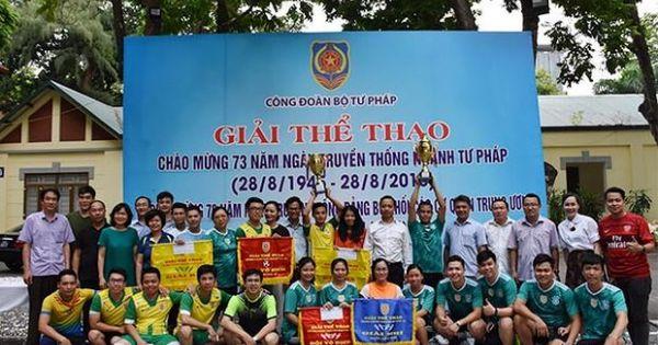 Ấn tượng Giải thể thao chào mừng 73 năm Ngày truyền thống Ngành Tư pháp Việt Nam