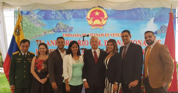Đại sứ quán Việt Nam tại Venezuela kỷ niệm 73 năm Quốc khánh