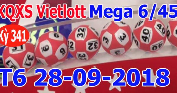 Mega 6 45 vietlott 28/9/2018– KQXS MEGA 645