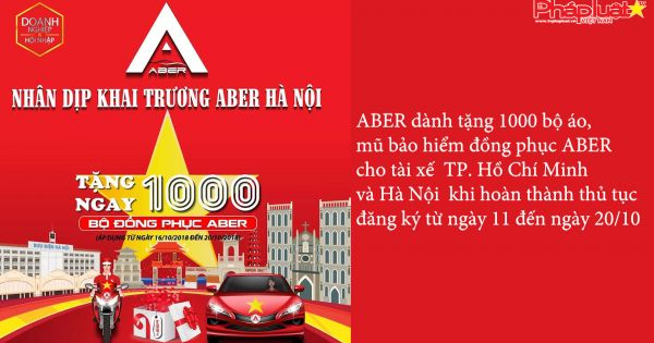 Hàng trăm tài xế đăng ký ứng dụng gọi xe ABER tại Hà Nội