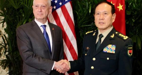 Bộ trưởng quốc phòng Mỹ - Trung hội đàm tìm cách giảm căng thẳng