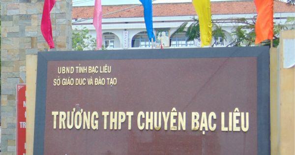 """Khởi tố vụ án """"Tham ô tài sản"""" tại trường THPT chuyên Bạc Liêu"""