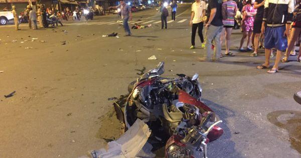 Nữ tài xế phóng BMW với tốc độ kinh hoàng, đâm hàng loạt xe máy