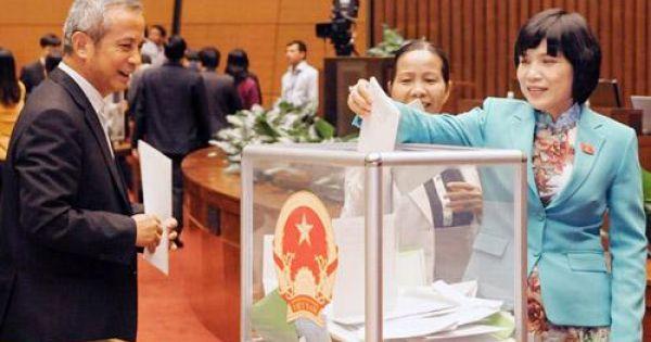 Quốc hội thông qua danh sách 48 lãnh đạo lấy phiếu tín nhiệm