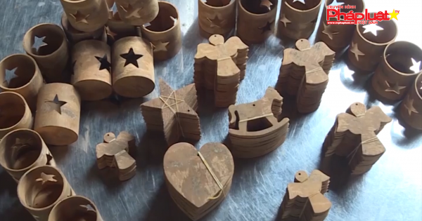 Độc đáo nghề làm đồ thủ công mỹ nghệ từ vỏ quế