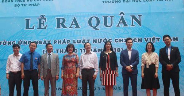 Ra quân hưởng ứng Ngày Pháp luật Việt Nam