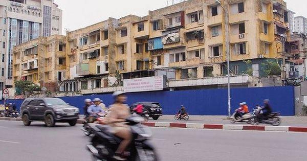 """Vì sao dự án cải tạo chung cư cũ trên """"đất vàng"""" ở Hà Nội chậm tiến độ"""