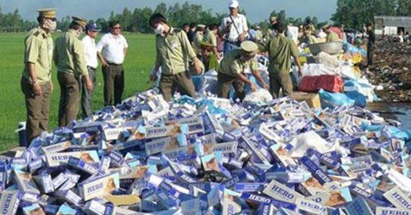 Khoảng 1 tỷ bao thuốc lá lậu đổ vào Việt Nam mỗi năm