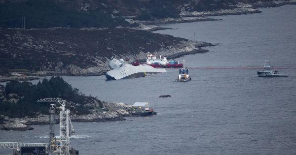 Tàu hộ vệ hiện đại của Na Uy chìm hẳn sau 5 ngày bị đâm