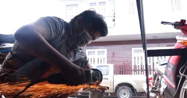 Máy cắt gạch bê tông siêu nhẹ của kỹ sư Đồng Nai