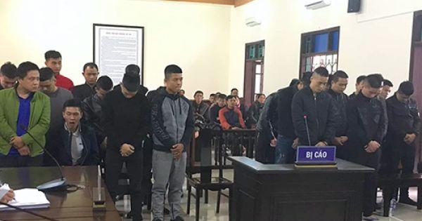 25 giang hồ Hà Tĩnh lĩnh án tù