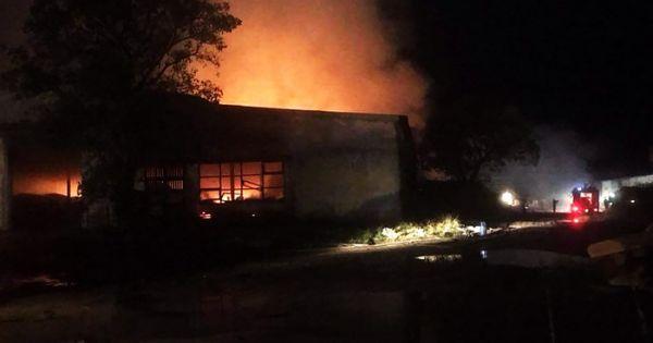 Bình Định: Nhà xưởng chứa 100 tấn viên nén sinh học bị bà hỏa thiêu rụi