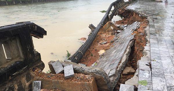 100m bờ kè di tích Thành cổ Quảng Trị bị sạt lở