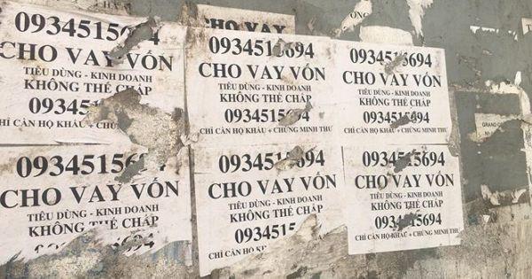 Quảng cáo tín dụng đen tràn ngập phố phường Thủ đô