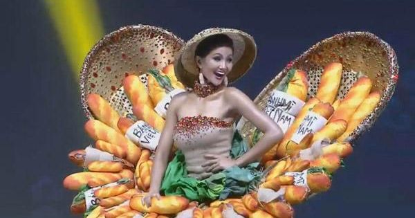 """H'Hen Niê diễn trang phục """"bánh mỳ"""" tại Miss Universe"""