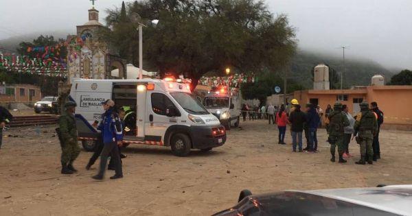 Nổ pháo hoa tại nhà thờ ở Mexico, ít nhất 8 người chết