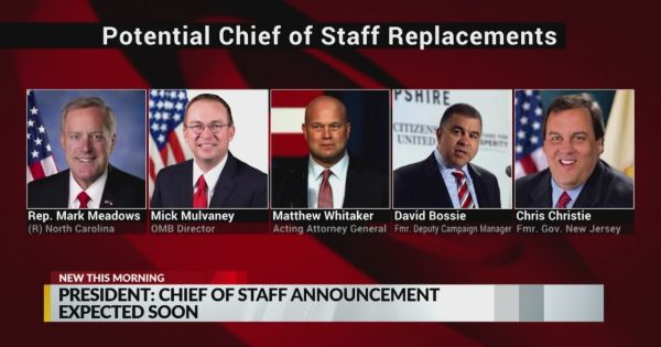 Tổng thống Trump lập danh sách ứng viên Chánh văn phòng Nhà Trắng