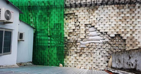 """""""Tường thành khổng lồ"""" xây trái phép ở Nha Trang đang nứt vỡ, các hộ dân phải di dời"""