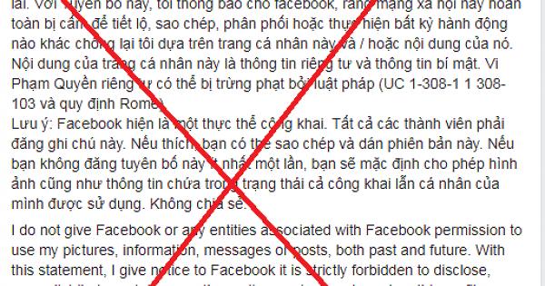 Người dùng Facebook Việt sập bẫy trò lừa đảo đăng tải lại status
