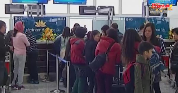 Thử nghiệm phân luồng hành khách tại nhà ga T2 Nội Bài
