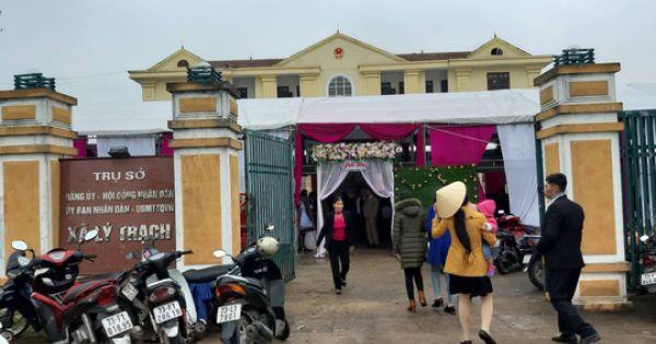 Chủ tịch Hội Liên hiệp Phụ nữ tổ chức đám cưới cho con trai ngay trụ sở UBND xã vào giờ hành chính