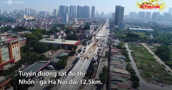 Lắp đặt ray tuyến đường sắt Nhổn - ga Hà Nội