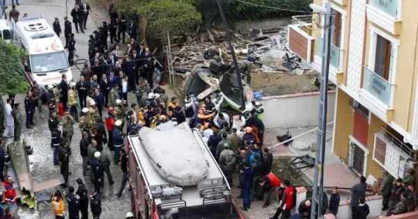 Rơi trực thăng quân sự ở Istanbul, ít nhất 4 người thiệt mạng