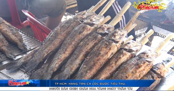 TP HCM: Hàng tấn cá lóc được tiêu thụ, người dân chen chân mua vàng ngày thần tài