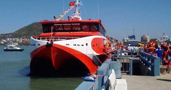Đưa tàu cao tốc 2 thân vào hoạt động tuyến Vũng Tàu - Côn Đảo