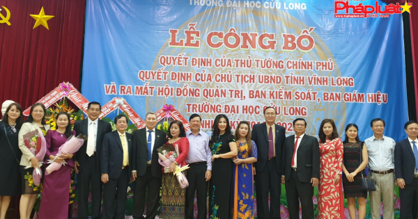 Đại học Cửu Long ra mắt HĐQT, Ban Giám hiệu sau khi chính thức chuyển loại hình dân lập sang tư thục