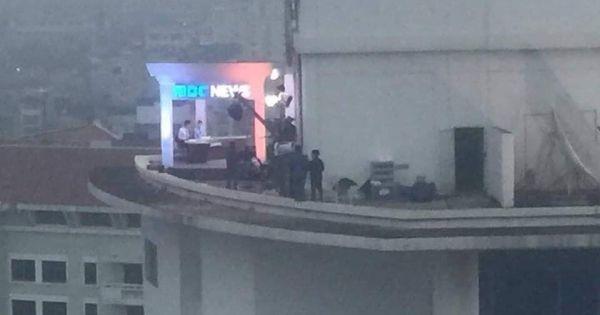 Truyền hình Hàn Quốc dựng trường quay ở Hà Nội đưa tin Hội nghị thượng đỉnh Mỹ - Triều