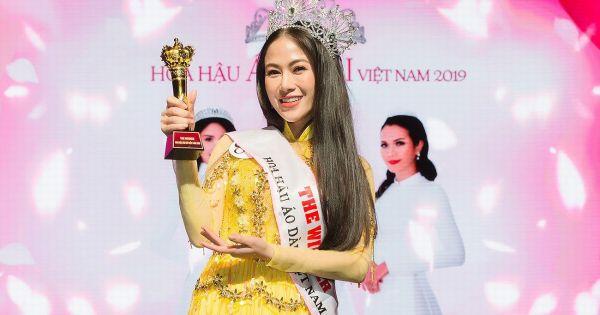 """Giọng ca """"Sao Mai"""" Tuyết Nga đăng quang """" Hoa hậu áo dài Việt Nam 2019"""""""