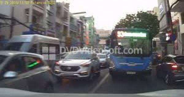 Sẽ xử nghiêm tài xế xe buýt lấn làn, suýt đâm ô tô ở TP HCM