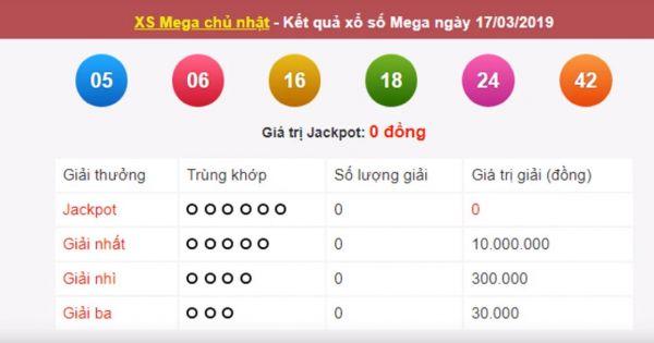Mega 6 45 vietlott 17/3/209– KQXS MEGA 645