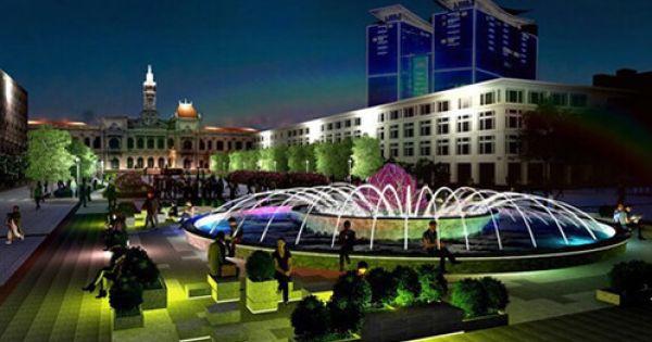 TP.HCM: Xây lại đài phun nước trên phố đi bộ Nguyễn Huệ