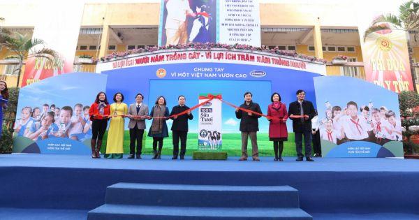 Chương trình Sữa học đường tại Hà Nội: Số lượng các cháu tham gia ngày càng đông