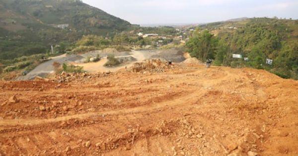 """""""Xẻ thịt"""" rừng phòng hộ xung yếu để khai thác đá ở Bảo Lộc, Lâm Đồng"""