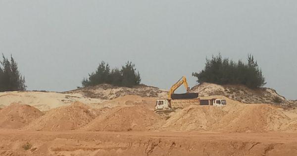 Quảng Bình: Doanh nghiệp khai thác cát trái phép bị phạt hơn 100 triệu đồng