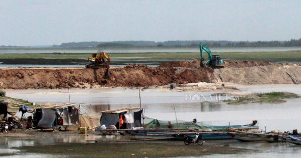 Hồ Dầu Tiếng, ngừng khai thác cát vì nghi đầu cơ